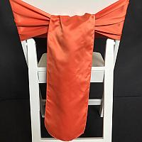 Chair Tie - Satin - Rust