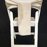 Chair Tie - Raw Silk - Silver