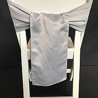 Chair Tie - Satin - Silver