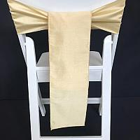 Chair Tie - Raw Silk - Soft Gold