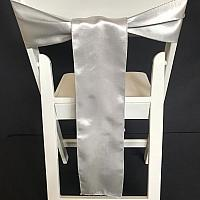 Chair Tie - Silk - Silver