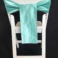 Chair Tie - Raw Silk - Tiffany Blue