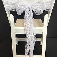 Chair Tie - Lace - White