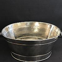 Party Tub - Hammered Stainless Steel