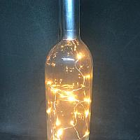 Wine Bottle w/ Fairy Lights - Clear