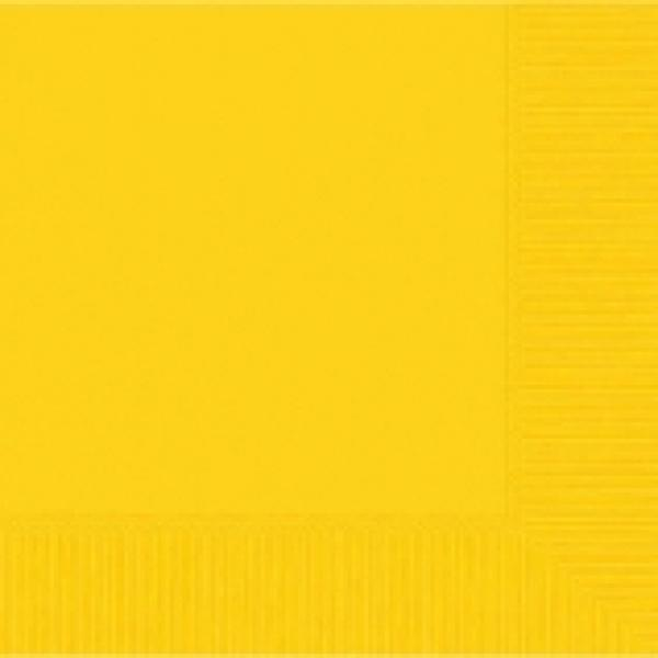 Yellow Sunshine Beverage Napkin-50 pkg