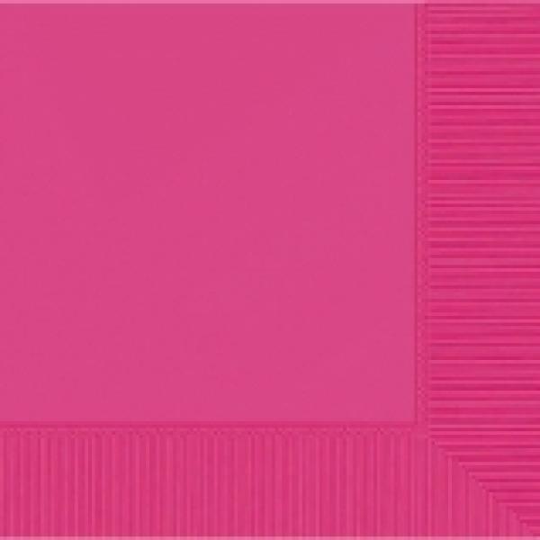 Bright Pink Beverage Napkin - 50 pkg