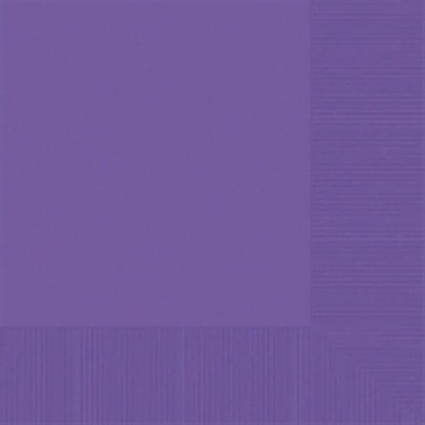 Purple Beverage Napkin - 50 pkg