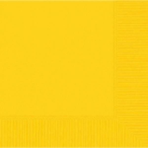 Yellow Sunshine Luncheon Napkin - 50 pkg