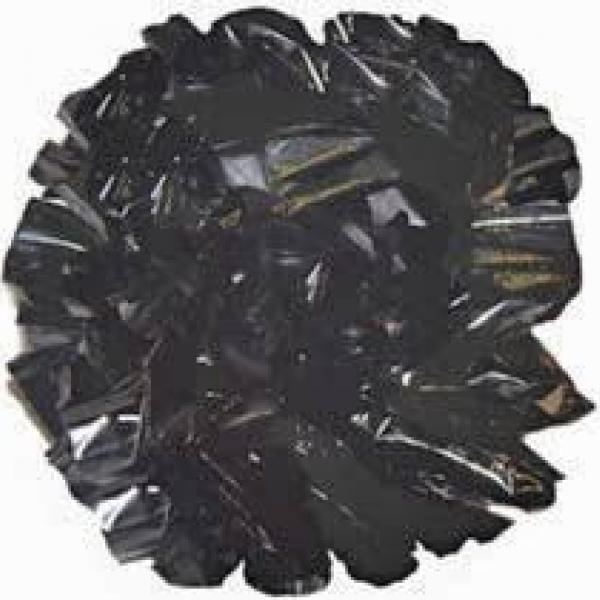 Plastic Pom Poms - Black