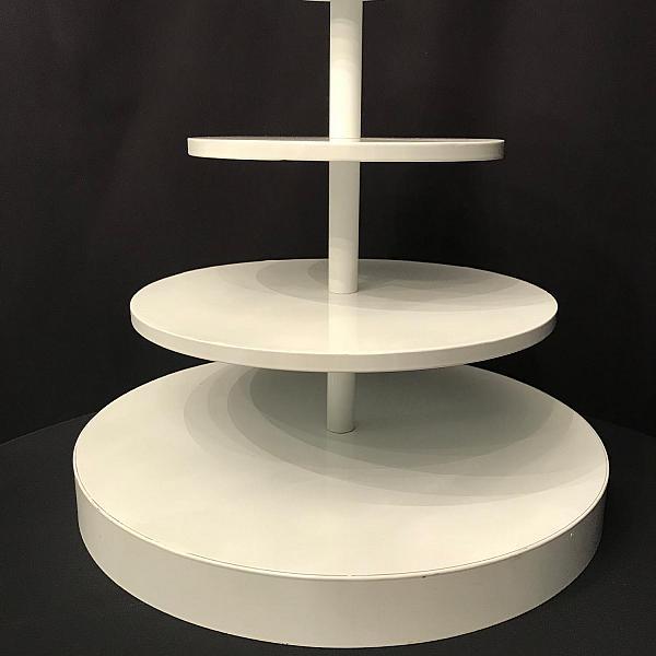 """Cupcake Stand - 18"""" Round - White"""