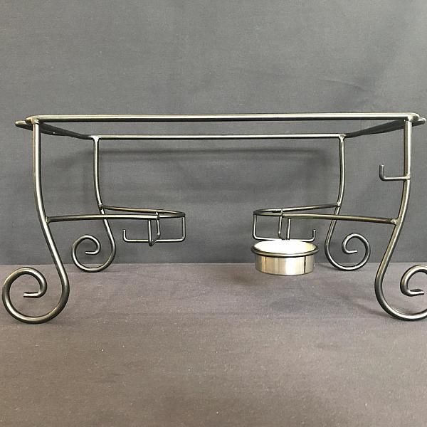 Chafing Dish Frame - Wrought Iron w/ Food Scoop
