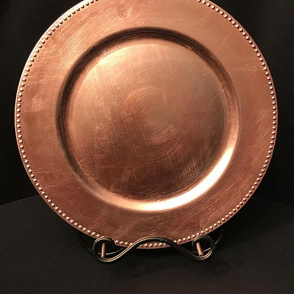 Charger Plate - Blush - Beaded