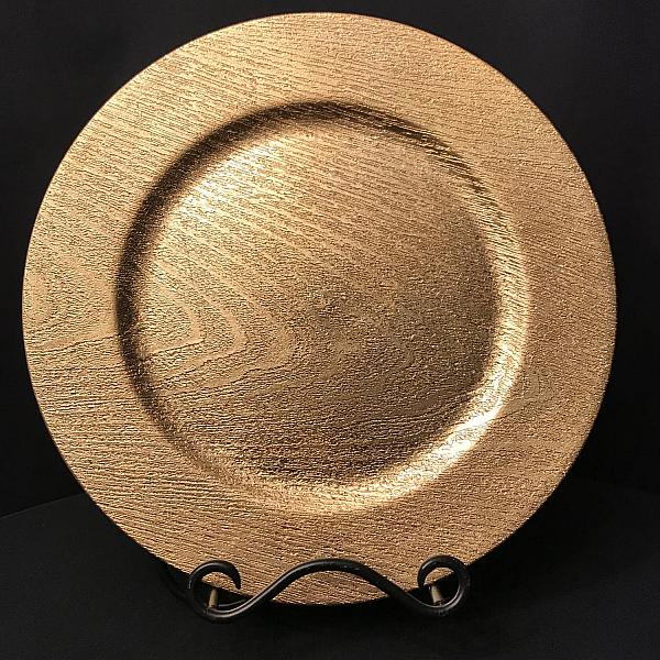 Charger Plate - Gold - Wood