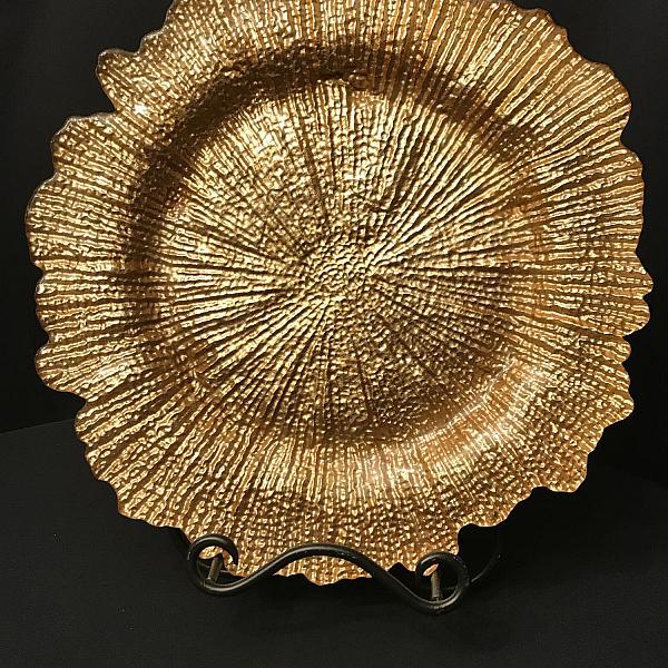 Charger Plate - Gold - Glass - Reef