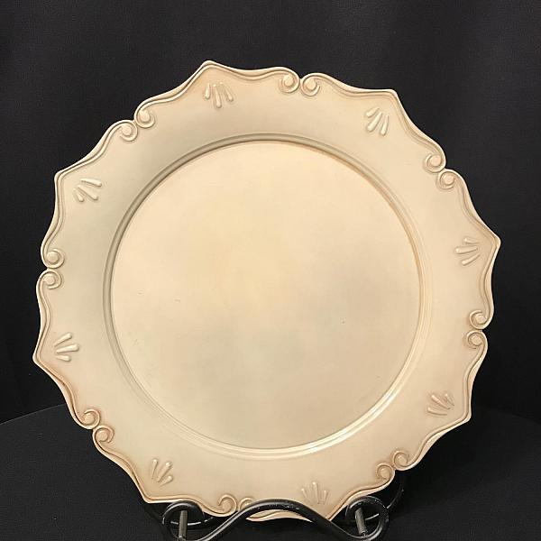 Charger Plate - Antique Ivory