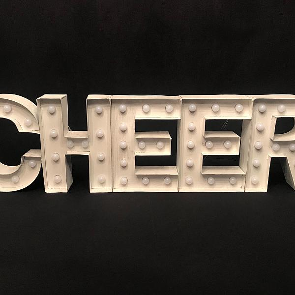 "Marquee Sign - CHEER - 8"" x 29"""
