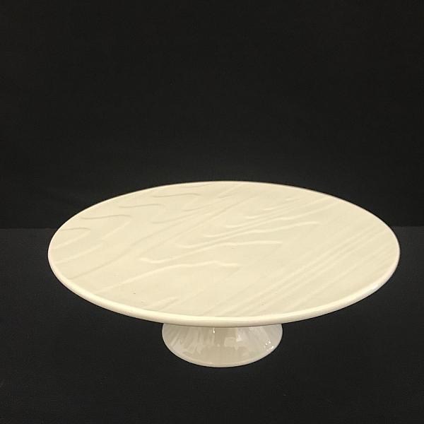 """Cake Plate - White - Round - 9.5"""""""