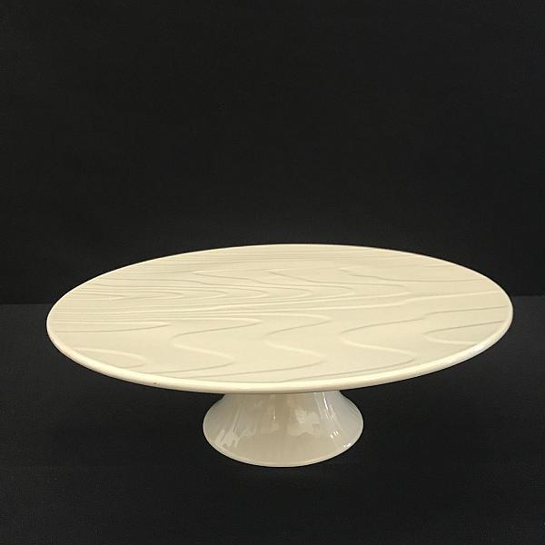 """Cake Plate - White - Round - 12.5"""""""