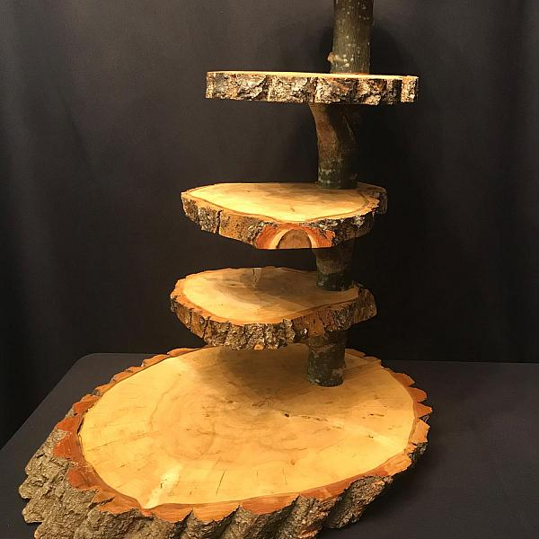 Cupcake Stand - Wood Rounds - 5 Tier
