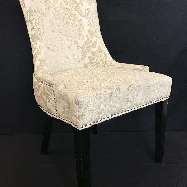 Damask Newlywed Chair - Cream