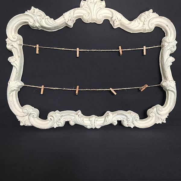 Antique White Frame w/ Jute Twine