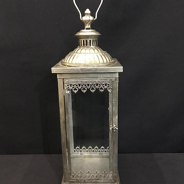 "Lantern - Antique - Silver - 8"" x 24"""