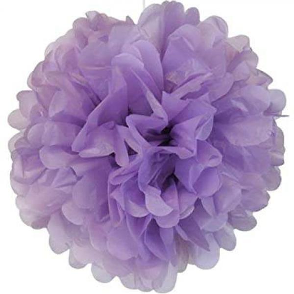Plastic Pom Poms - Lavender