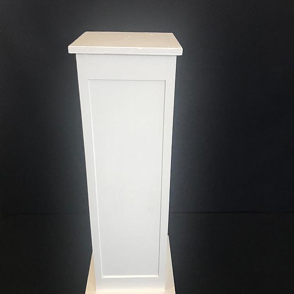 """Pillar - Wood - White - 39"""" Height"""