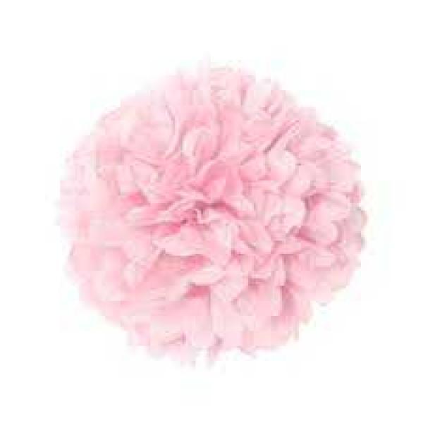 Plastic Pom Poms - Light Pink