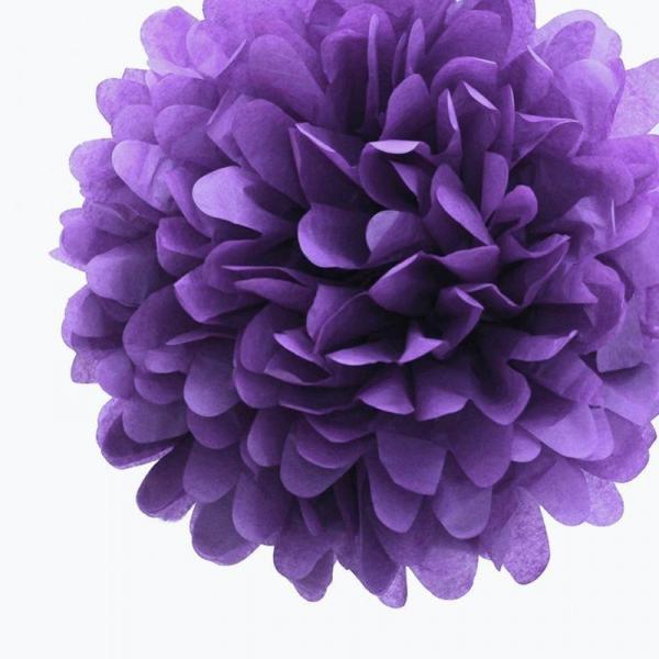 Plastic Pom Poms - Purple
