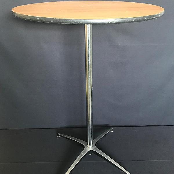 "Round Table, 30"" - Wood - 30"" Height"