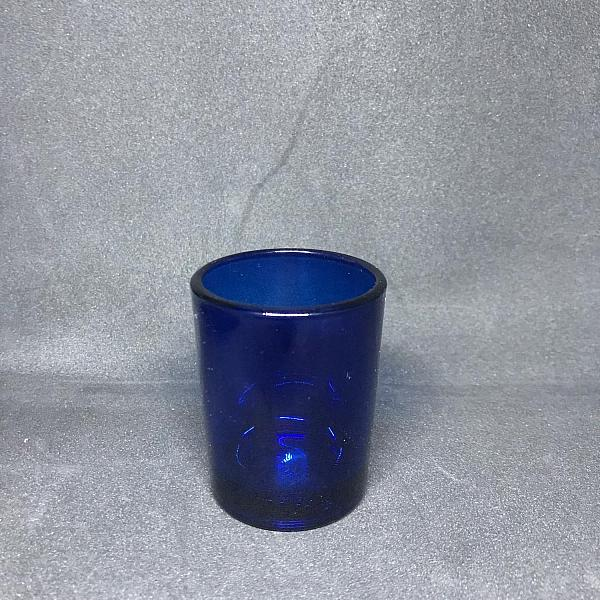 Votive Candle Holder - Round - Blue