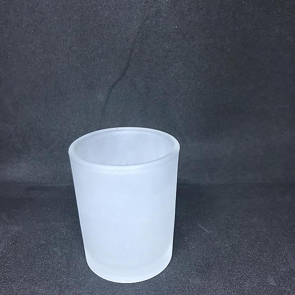 Votive Candle Holder - Round - Frost