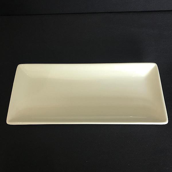 "Pearl White Rectangular Plate 4.5""w  x 10""l"