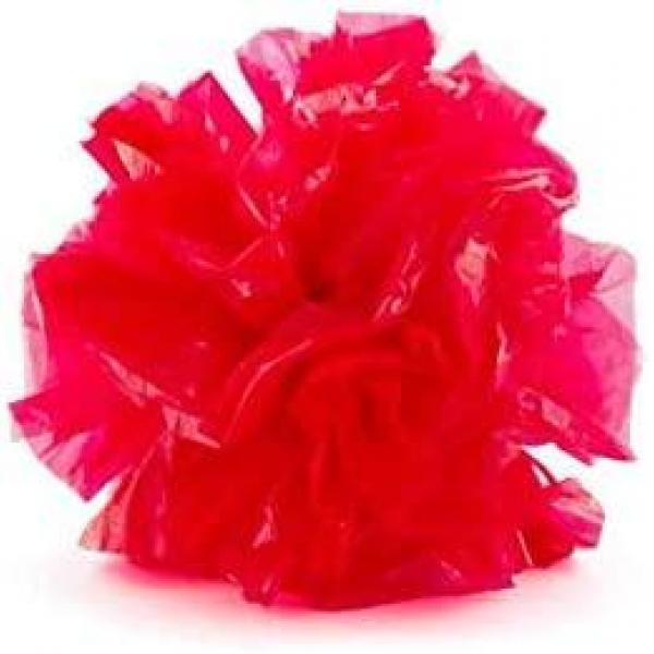 Plastic Pom Poms - Red