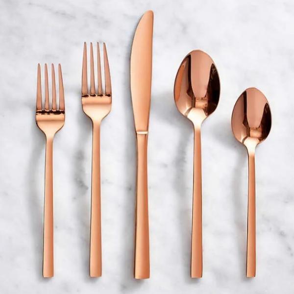 Rose Gold Salad Fork
