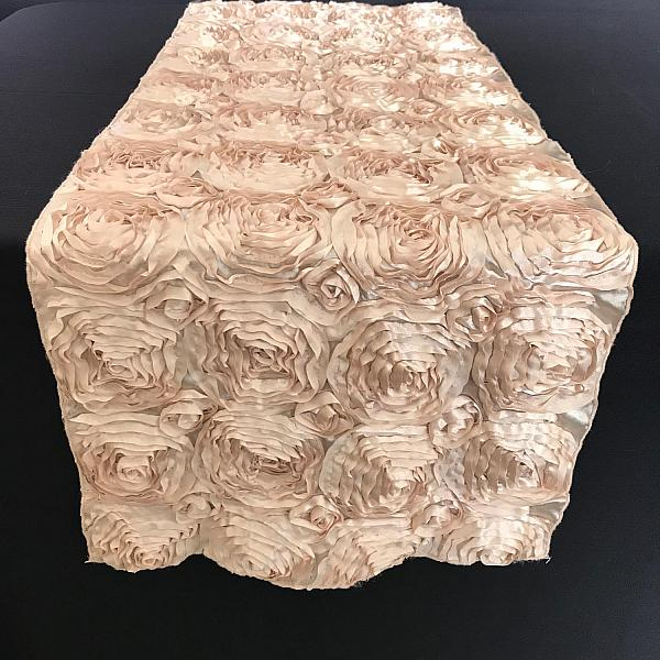 Table Runner - Rosette - Champagne