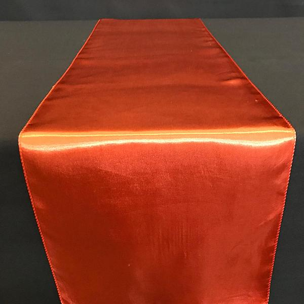 Table Runner - Satin - Burnt Orange