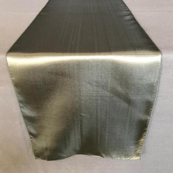 Table Runner -  Silk - Black