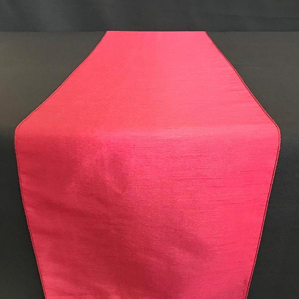 Table Runner - Raw Silk - Merlot