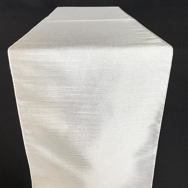 Table Runner - Raw Silk - While