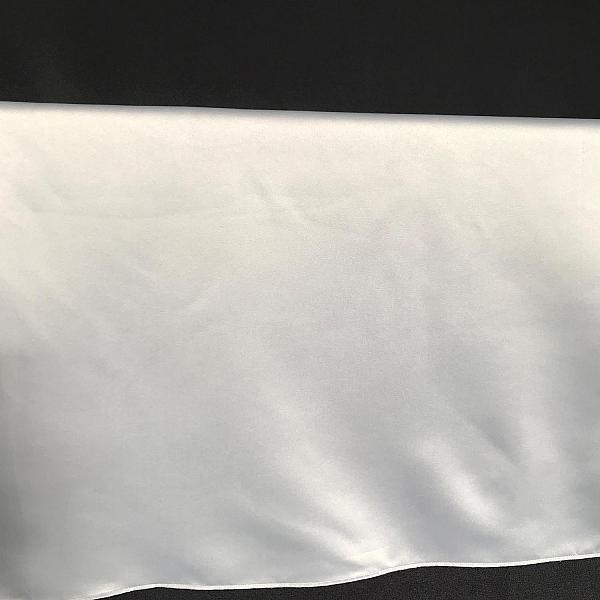 "Table Overlay - Satin - Silver 72"" x 72"""