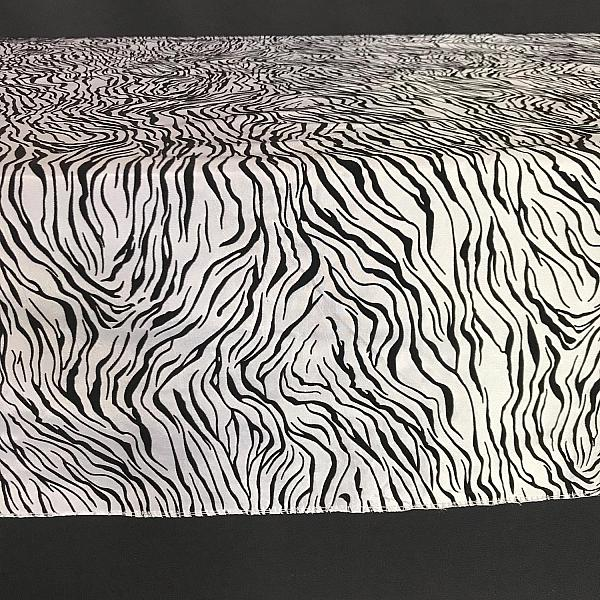 "Table Overlay - Tiger Print - Black & White 72"" x 72"""