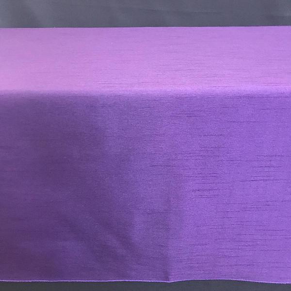 "Table Overlay - Raw Silk - Purple 72"" x 72"""