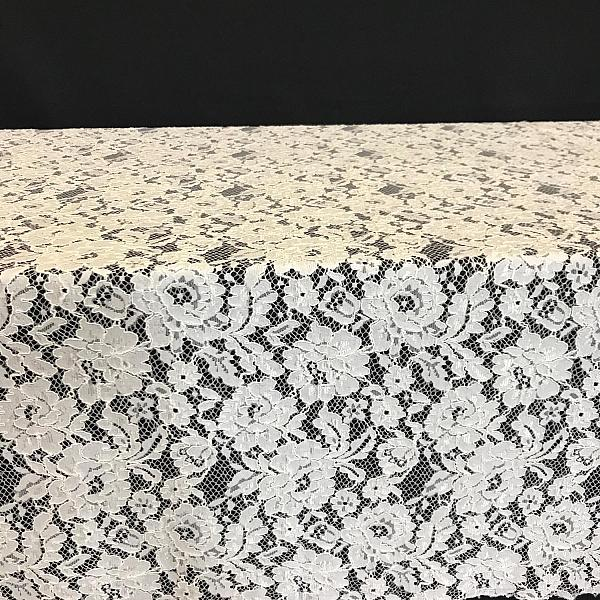 """Table Overlay - Lace - White 72"""" x 72"""""""