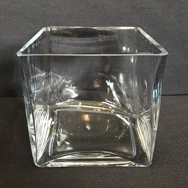 "Square Vase - 4"" x 4"""