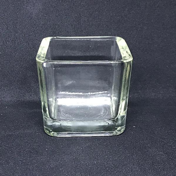 Votive Candle Holder - Square - Clear