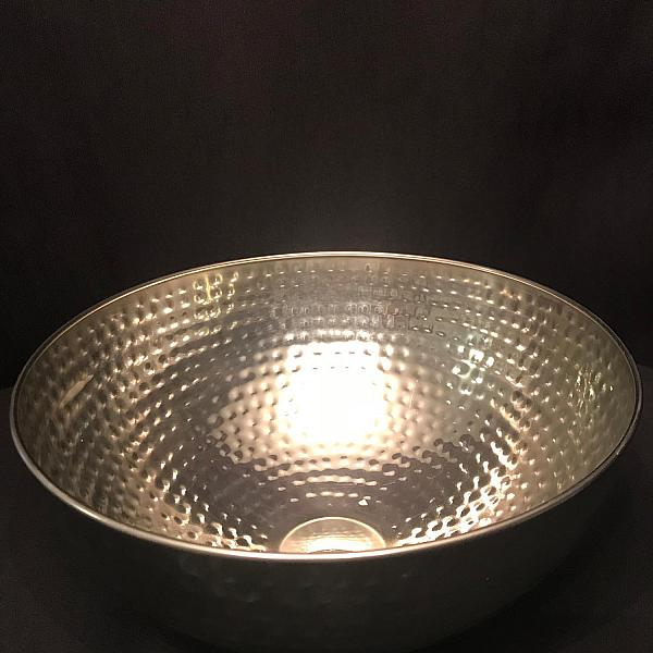 Hammered Stainless Steel Bowl - 11""