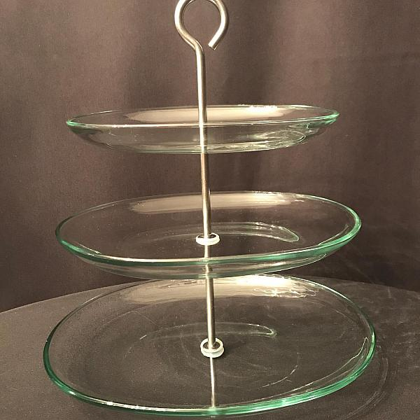 Dessert Stand - 3 Tier - Glass